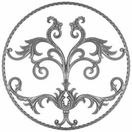 1058 Накладка кованая декоративная