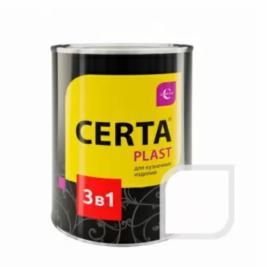 Грунт-эмаль 3 в 1 по ржавчине ЦЕРТА-ПЛАСТ белый, 0,8 кг.