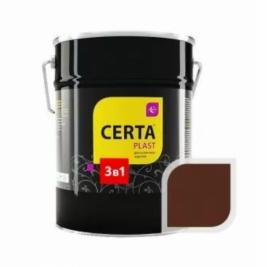 Грунт-эмаль 3 в 1 по ржавчине ЦЕРТА-ПЛАСТ шоколад, 4 кг.