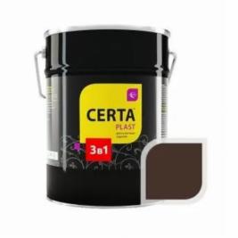 Грунт-эмаль 3 в 1 по ржавчине ЦЕРТА-ПЛАСТ темный шоколад, 4 кг.