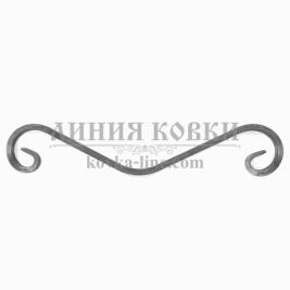 """К-450 Кованый элемент """"Коромысло"""" из квадрата, 450 мм"""