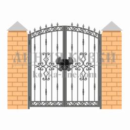 Кованые ворота В-004 , кв.м.