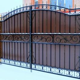 Кованые ворота В-001 кв.м.